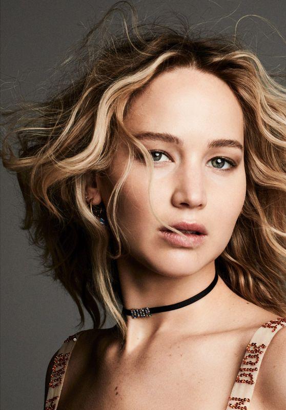 Jennifer Lawrence Headshot for Dior