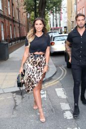 Jessica Shears and Dom Lever at Love Island Viewing Party in London 07/30/2018