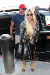 Jessica Simpson and Eric Johnson at LAX Airport in LA 07/30/2018