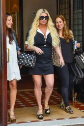 Jessica Simpson - Leaving Her Hotel in Manhattan 07/31/2018