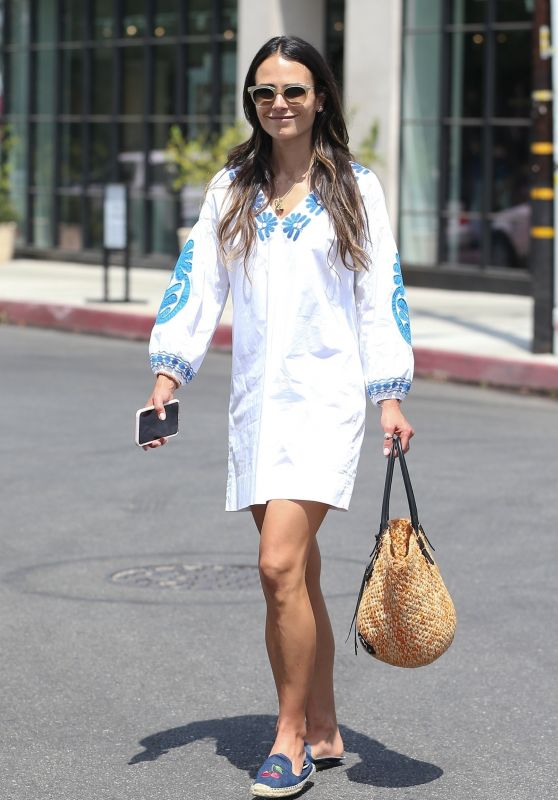 Jordana Brewster Cute Street Style - Out in West Hollywood