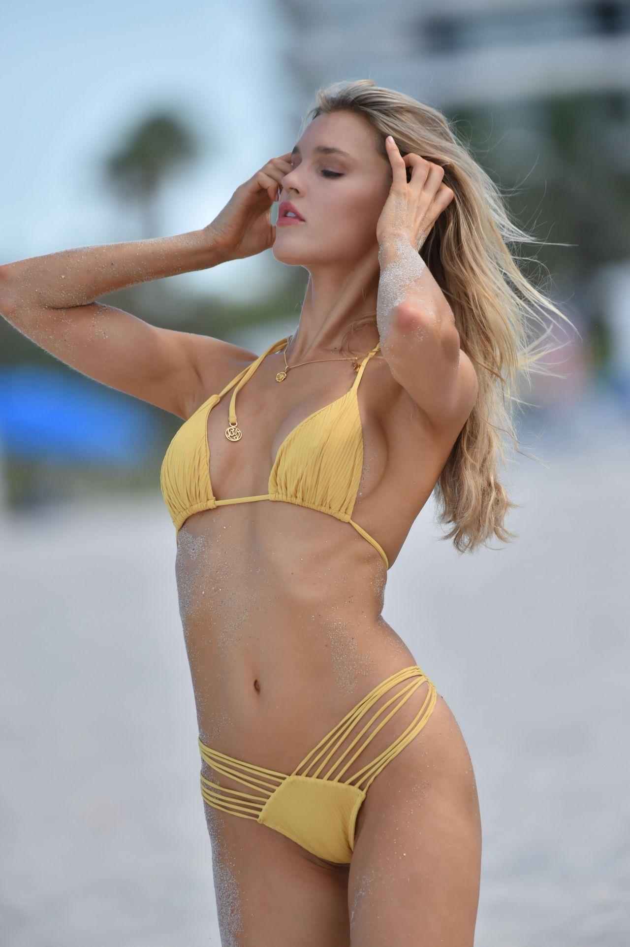 Joy Corrigan Bikini Photoshoot - Miami Beach 07/12/2018