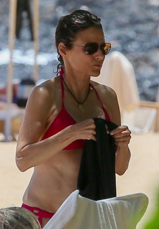 Julia Louis-Dreyfus in Bikini at the Beach on the Island of Lanai