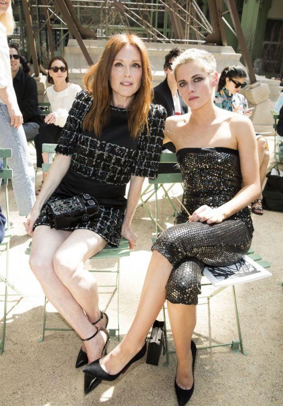 Julianne Moore and Kristen Stewart - Chanel Paris Fashion Week 07/01/2018