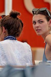 Kaia Gerber and Vittoria Ceretti in Forte dei Marmi 07/27/18