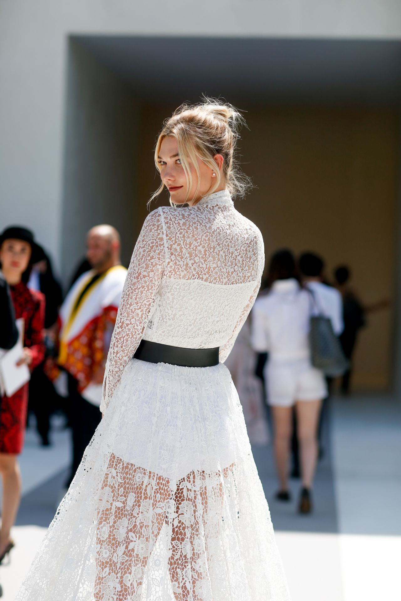 Karlie Kloss Outside The Christian Dior Show Fall Winter