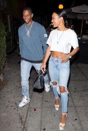 Karrueche Tran and Victor Cruz - Leaving Delilah in West Hollywood 07/01/2018