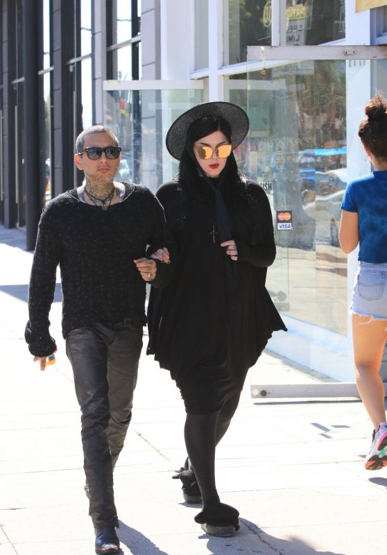 Kat Von D With Her Husband - West Hollywood 07/03/2018