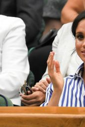 Kate Middleton and Meghan Markle at Wimbledon in London 07/16/2018