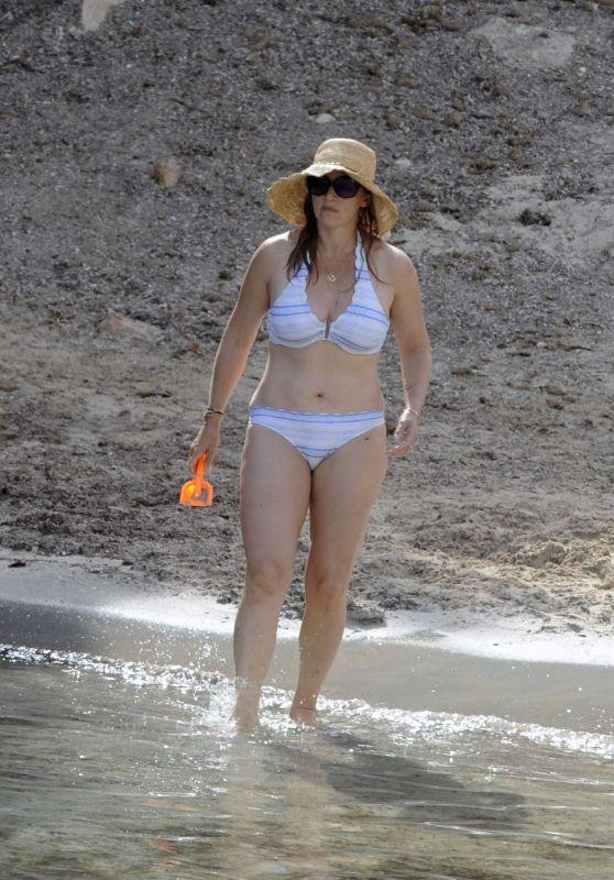 Kate Winslet Bikini Candids - Beach in Menorca, July 2018