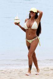 Katie Price in Bikini on the Beach in Thailand 07/18/2018