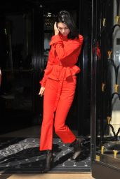 Kendall Jenner - Leaving Four Seasons George V Hotel in Paris 07/23/2018
