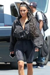Kim Kardashian - Leaves the Saved By The Max Pop-Up Diner in West Hollywood