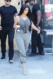 Kim Kardashian - Outside an Art Studio in Los Angeles 07/23/2018