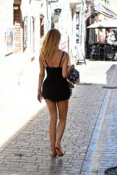 Kimberley Garner in Black Playsuit in Saint-Tropez 07/26/2018