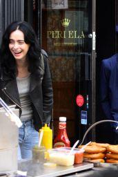 "Krysten Ritter and Rachael Taylor at the ""Jessica Jones"" Set in Manhattan 07/30/2018"