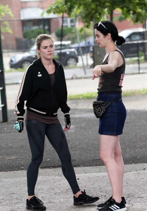"Krysten Ritter and Rachael Taylor - ""Jessica Jones"" Set in NYC 07/05/2018"