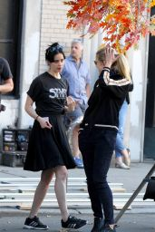 Krysten Ritter and Rachel Taylor - Filming Scenes at the Marvel