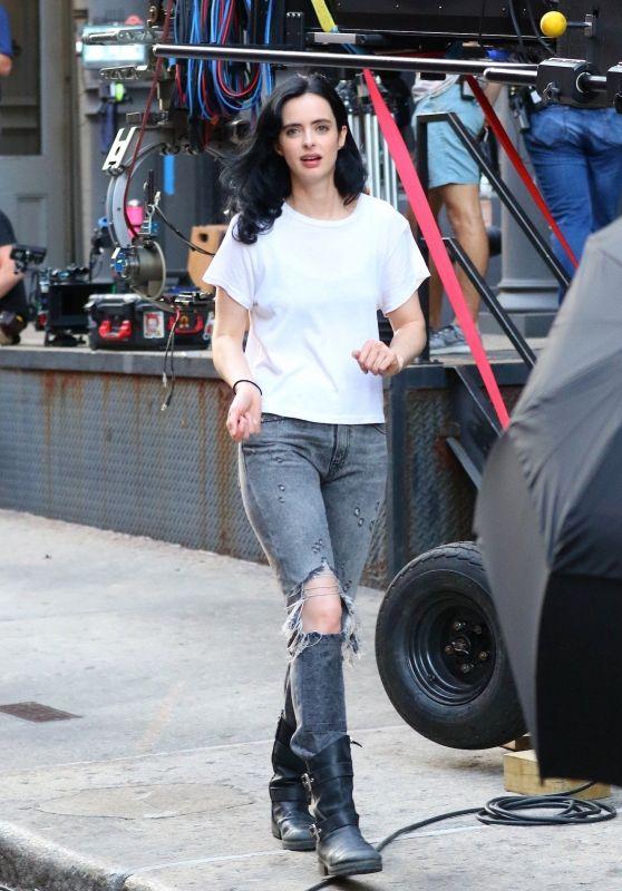 """Krysten Ritter - Season 3 of """"Jessica Jones"""" Set in NYC 07/05/2018"""