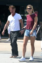 Leila George in Jeans Shorts Out in Malibu