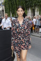 Lily Aldridge - Arriving at Givenchy Fashion Show in Paris 07/01/2018