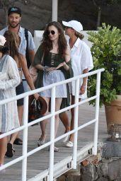 Lily Collins in Hotel Regina Isabella in Ischia 07/20/2018