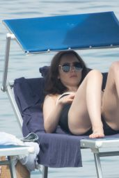 Lily Collins in Swimsuit - Ischia 07/16/2018