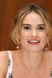 """Lily James - """"Mamma Mia! Here We Go Again"""" Press Conference in Stockholm"""