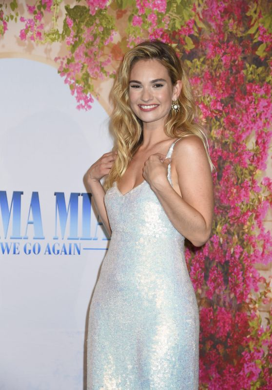 "Lily James - ""Mamma Mia! Here We Go Again"" VIP Premiere in Stockholm"