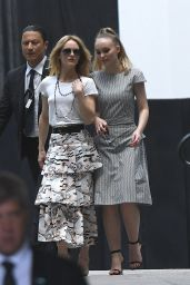 Lily Rose Depp and Vanessa Paradis - Leave the Chanel Fashion Show in Paris 07/03/2018