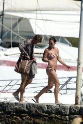 Lisa Müller in Bikini - Holiday on a Yacht in Porto Cervo