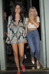 Lottie Moss and Emily Blackwell at Sexy Fish in Mayfair