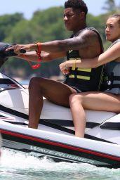 Lucia Loi in Bikini on a Catamaran in Barbados 07/23/2018