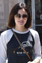 Lucy Hale - Grabbing Ice Coffees in Studio City 07/17/2018