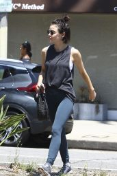 Lucy Hale in Leggings - Leaving a Studio City-Based Yoga Class in LA 07/26/2018