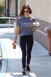 Lucy Hale in Tights in Los Angeles 07/30/2018