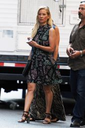 """Lucy Liu - Filming """"Elementary"""" in NYC 07/13/2018"""