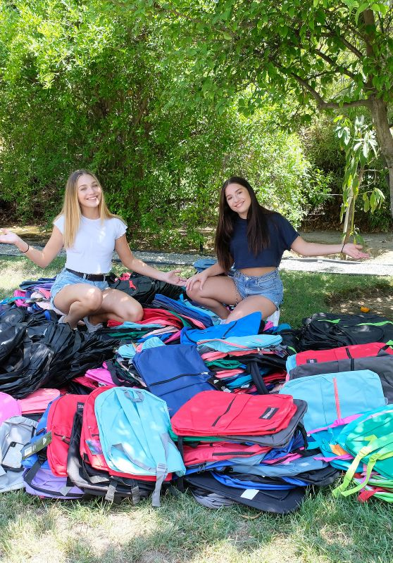 Maddie and Mackenzie Ziegler - Pack 750 Backpacks to Donate to Foster Kids and Homeless Teens in LA