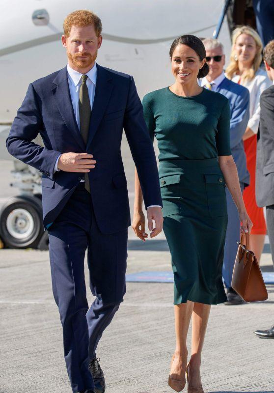 Meghan Markle and Prince Harry on Emerald Isle