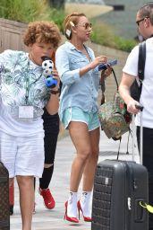 Melanie Brown - Leaving the ITV Studios in London 07/24/2018