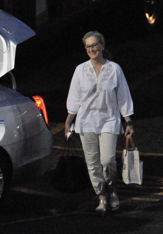 """Meryl Streep - Leaving the Set of """"Big Little Lies"""" in Los Angeles 07/28/2018"""