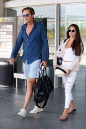 Michelle Scott is Stylish - Arriving in Barcelona 07/24/2018
