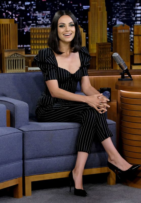 "Mila Kunis Appeared on ""The Tonight Show Starring Jimmy Fallon"" in NYC 07/30/2018"