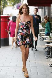 Millie Mackintosh in Summer Mini Dress - Out for Lunch in London