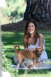 Minka Kelly - Takes Her Dog to the Park in Beverly Hills