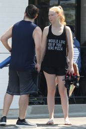 Molly Quinn - Outside Cycle House in Studio City 07/28/2018