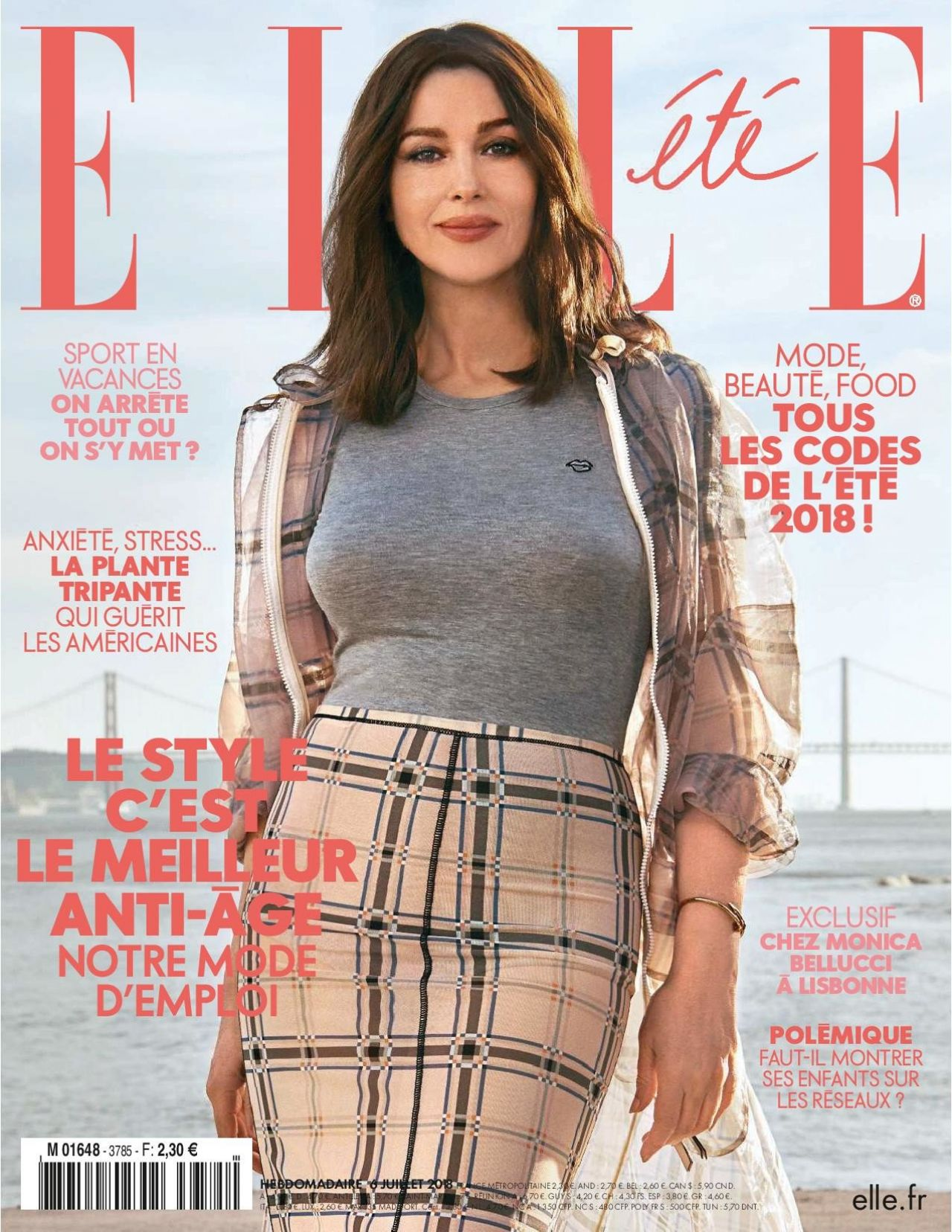 Monica Bellucci ELLE Magazine France July 2018