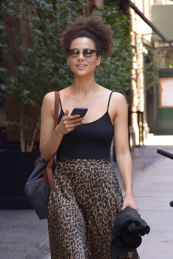 Nathalie Emmanuel in NYC 07/18/2018
