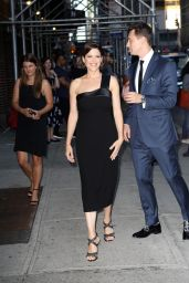 Neve Campbell - Arrives At The Late Show With Stephen Colbert in NYC