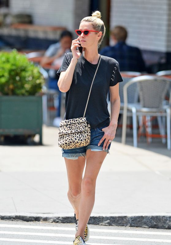 Nicky Hilton Leggy in Shorts - NYC 07/15/2018